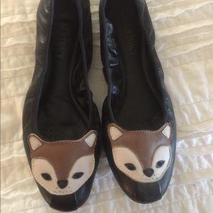Ellen Tracy Ballerina Shoe with Fox 🦊 Detail